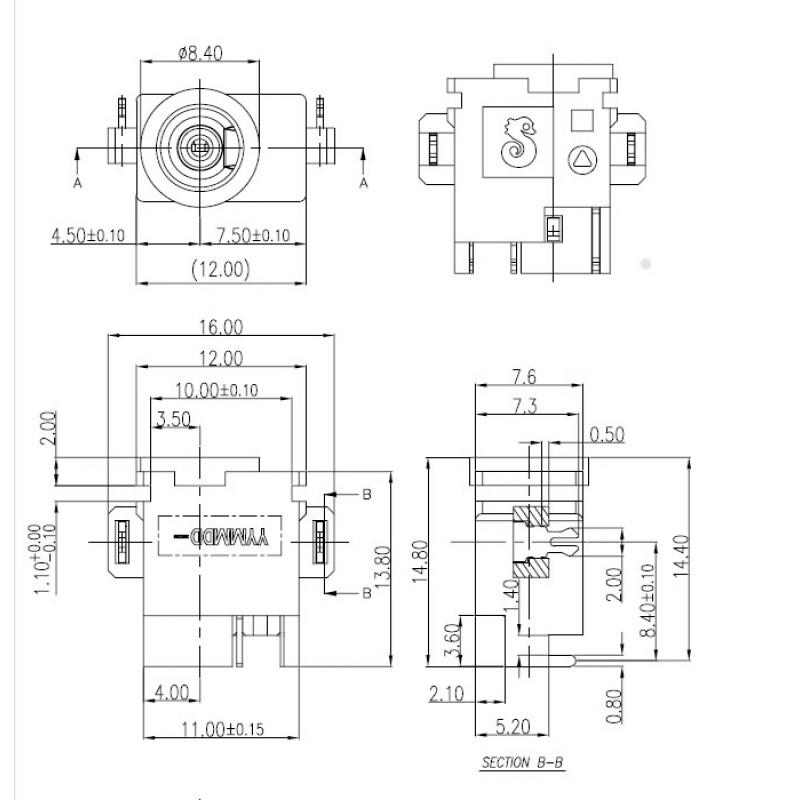 Разъем питания ноутбука Samsung тип SG02 datasheet